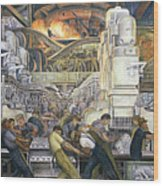 Detroit Industry   North Wall Wood Print by Diego Rivera