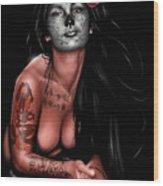 Dia De Los Muertos 4 Wood Print by Pete Tapang
