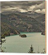 Diablo Lake - Le Grand Seigneur Of North Cascades National Park Wa Usa Wood Print by Christine Till