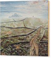 Distant Journey Wood Print by Richard Barham