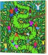 Divine Serpent Wood Print by Dimitri Beaulieu