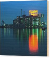Domino Sugars Baltimore Maryland 1984 Wood Print by Wayne Higgs