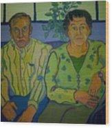 Dottie And Jerry Wood Print by Debra Robinson