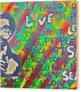 Dr. Cornel West  Love The People Wood Print by Tony B Conscious
