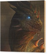 Dragon Portrait Wood Print by Steve Goad