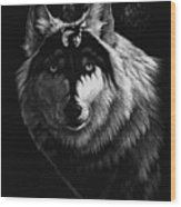 Dragon Wolf Wood Print by Stanley Morrison