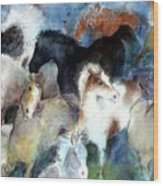 Dream Of Wild Horses Wood Print by Christie Michelsen