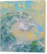 Dream Wave Wood Print by Linda Sannuti