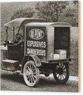 Du Pont Co. Explosives Truck Pennsylvania Coal Fields 1916 Wood Print by Arthur Miller