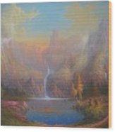 Dwarf Kingdom The Crown Of Durin Wood Print by Joe  Gilronan