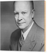 Dwight Eisenhower Wood Print by War Is Hell Store