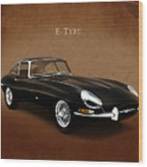 E Type Jaguar Wood Print by Mark Rogan