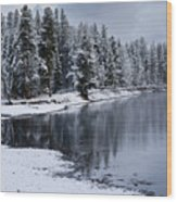 Early Fall Storm In Yellowstone Wood Print by Sandra Bronstein