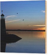 East Warf Sunset Wood Print by Lana Trussell