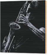 Eclectic Sax Wood Print by Richard Young
