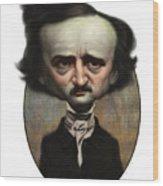 Edgar Allan Poe Wood Print by Court Jones