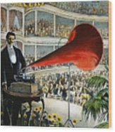 Edison Phonograph Ad, 1899 Wood Print by Granger