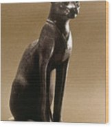 Egyptian Bronze Statuette Wood Print by Granger