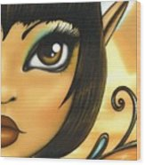 Egyptian Fairy Wood Print by Elaina  Wagner
