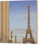 Eiffel Tower Paris Trocadero  Wood Print by Melanie Viola