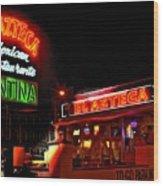 El Azteca Restaurant Wood Print by Corky Willis Atlanta Photography