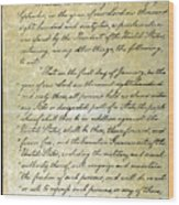 Emancipation Proc., P. 1 Wood Print by Granger