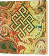 Endless Knot Two Wood Print by Kevin J Cooper Artwork