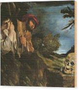 Et In Arcadia Ego Wood Print by Giovanni Francesco Barbieri