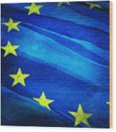European Flag Wood Print by Setsiri Silapasuwanchai