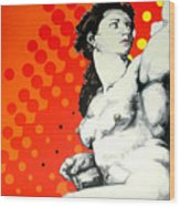 Eva Wood Print by Jean Pierre Rousselet