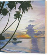 Eventide Tobago Wood Print by Karin  Dawn Kelshall- Best