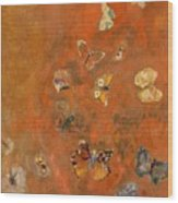 Evocation Of Butterflies Wood Print by Odilon Redon