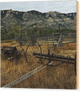 Ewing-snell Ranch 4 Wood Print by Larry Ricker