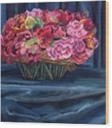 Fabric And Flowers Wood Print by Sharon E Allen