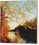 Fall At The Raritan River In New Jersey Wood Print by Christine Till