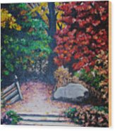 Fall In Quebec Canada Wood Print by Karin  Dawn Kelshall- Best