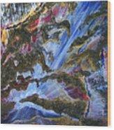 Falls Wood Print by Pam Ellis