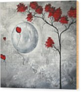 Far Side Of The Moon By Madart Wood Print by Megan Duncanson