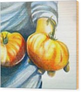 Farmers Market 1 Wood Print by Cami Rodriguez