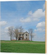 Farmstead Wood Print by Harold Clayberg