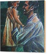 Father And Daughter Wood Print by Paulo Zerbato