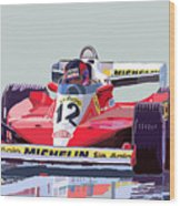 Ferrari 312 T3 1978 Canadian Gp Wood Print by Yuriy  Shevchuk