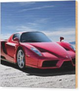 Ferrari Enzo Wood Print by Douglas Pittman