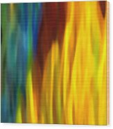 Fire And Water Wood Print by Amy Vangsgard