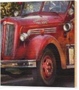 Fireman - The Garwood Fire Dept Wood Print by Mike Savad