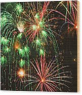 Fireworks 4th Of July Wood Print by Garry Gay
