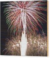 Fireworks Wood Print by Ernesto Grossmann