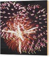 Fireworks Fun Wood Print by Debra     Vatalaro
