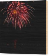 Fireworks II Wood Print by Christopher Holmes