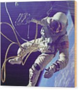 First American Walking In Space, Edward Wood Print by Nasa
